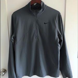 Nike Grey Dri-Fit Long Sleeved 1/4 Zip Pullover